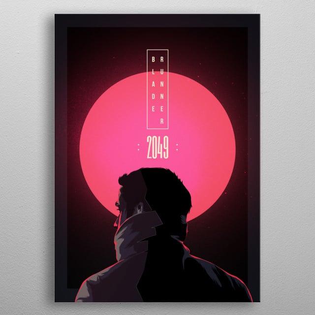 Blade Runner 2049 metal poster