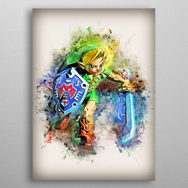 Link - Zelda metal poster