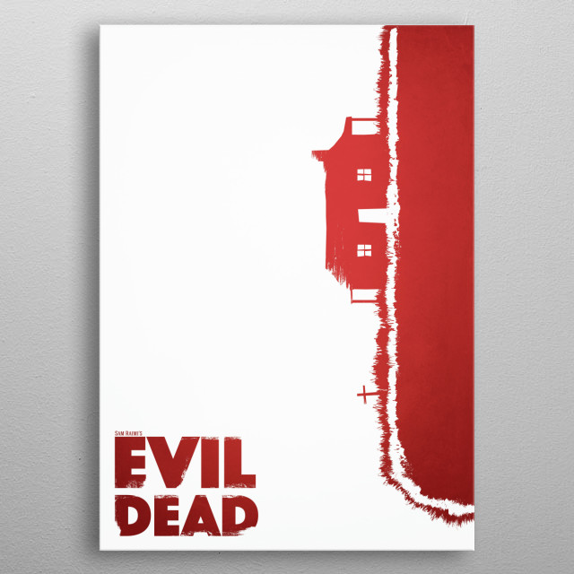 Evil Dead 'Cabin' metal poster