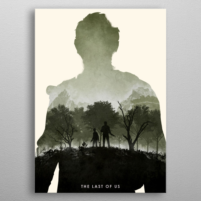 Poster design for the video game, The Last Of Us.  (Re-... metal poster