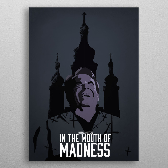 In the Mouth of Madness 'Do you read Sutter Cane' metal poster