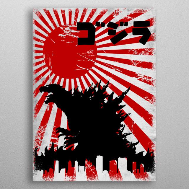 King Kaiju metal poster