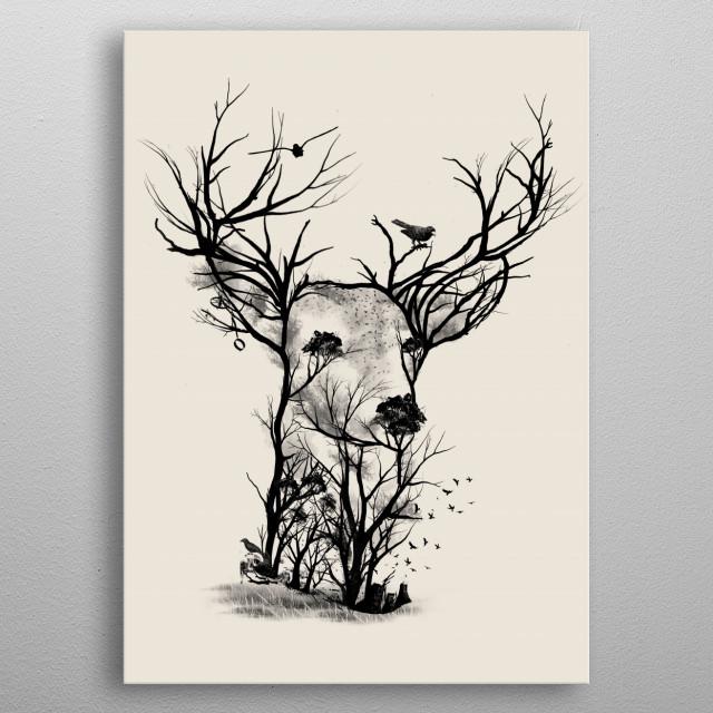 Wild Buck metal poster