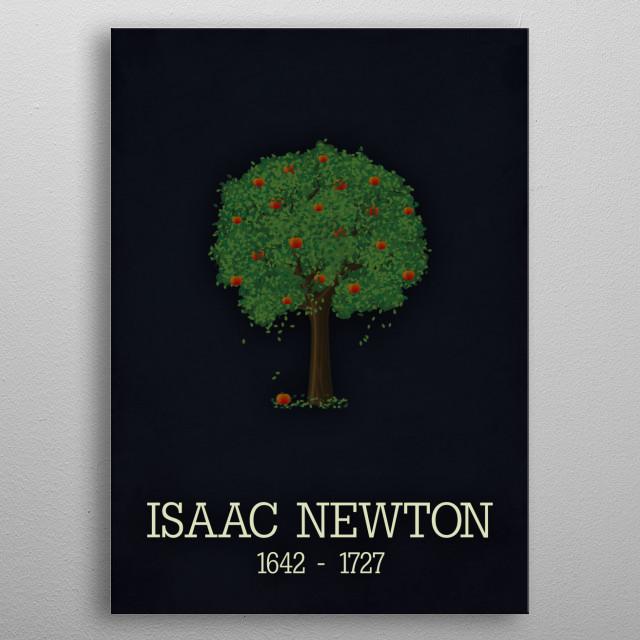 Isaac Newton poster metal poster