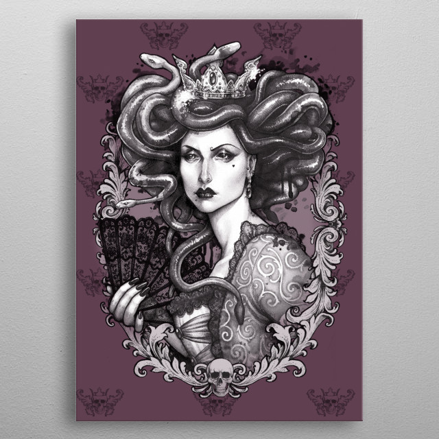 Medusa Imperatrix, my take in baroque disguise of my favourite greek mythology character metal poster