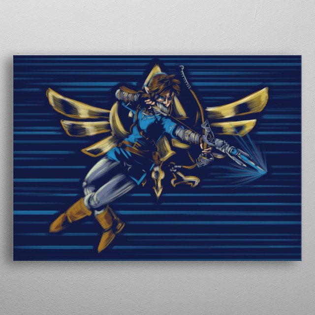 Breath of the hunter metal poster