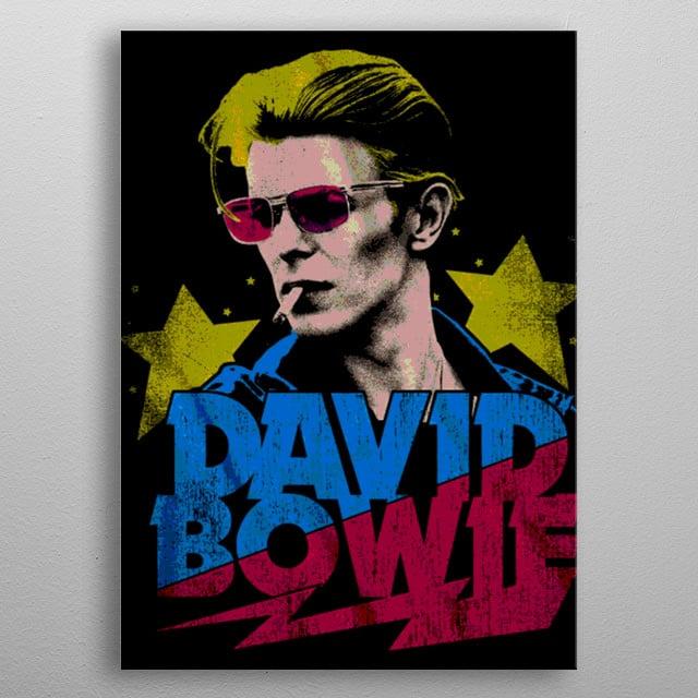 NICE POP COLOR DAVID BOWIE PORTRAIT metal poster