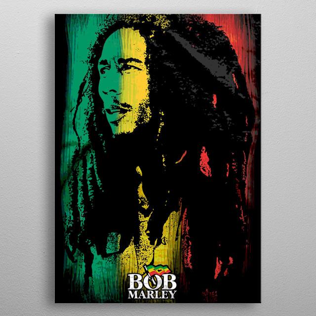 ONE LOVE BOB MARLEY  metal poster