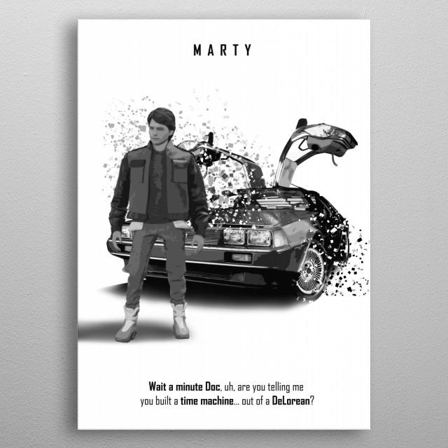 Marty! - DeLorean metal poster