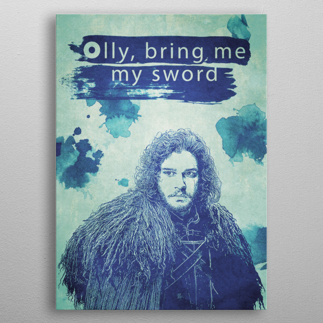 Jon Snow, Game of Thrones metal poster