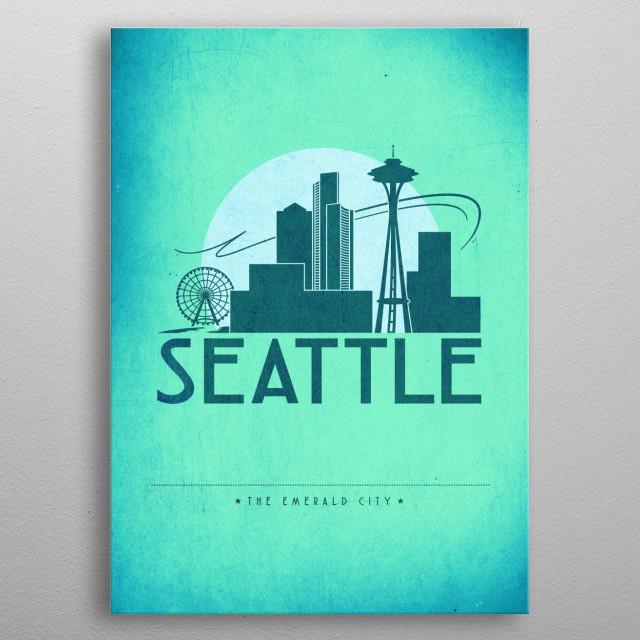 No. 4 Seattle metal poster