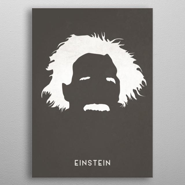 Legendary Mustaches - Albert Einstein metal poster