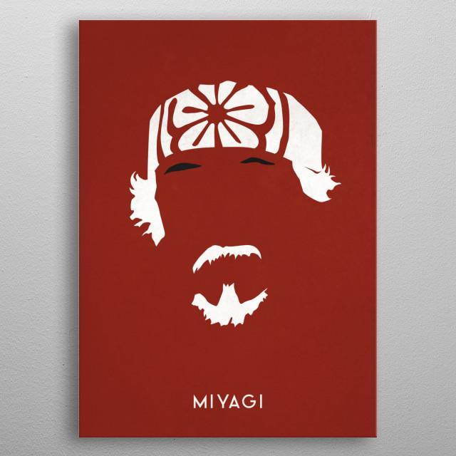 Legendary Mustaches - Mr. Miyagi from Karate Kid. metal poster