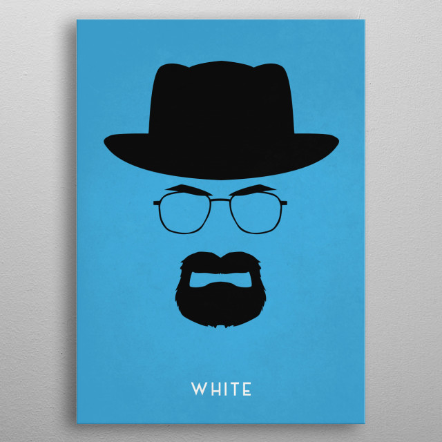 Legendary Mustaches - Walter White from Breaking Bad. metal poster