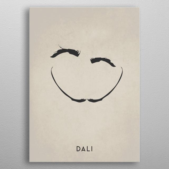 Legendary Mustaches - Salvador Dali metal poster