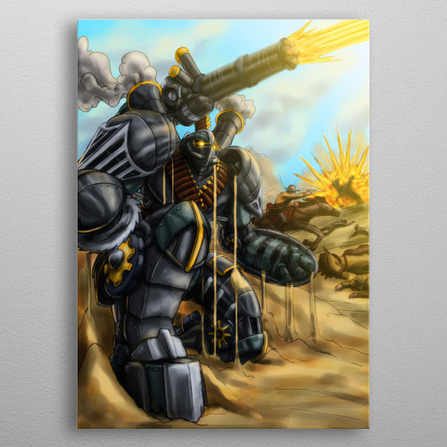 High-quality metal print from amazing Alacran collection will bring unique style to your space and will show off your personality. metal poster