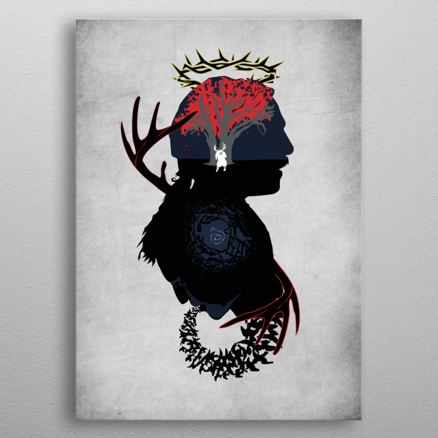 Rust Cohle & Marty Hart , spiral detectives. Inspired in Sherlock Holmes silhouette. metal poster