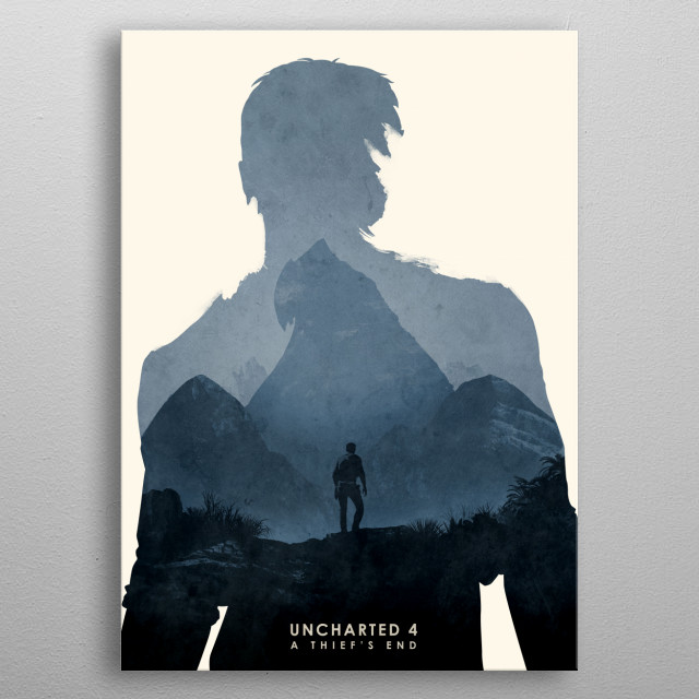 Poster design for the video game, Uncharted 4. metal poster
