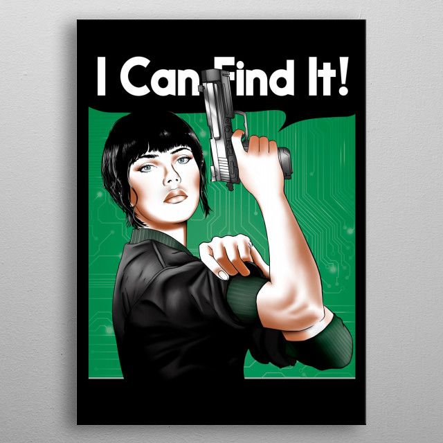 """""""I can find my past"""" metal poster"""