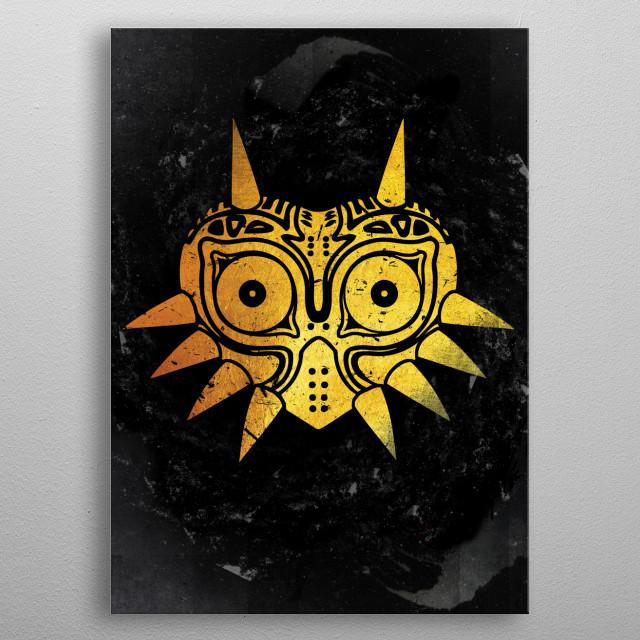 Golden Mask metal poster