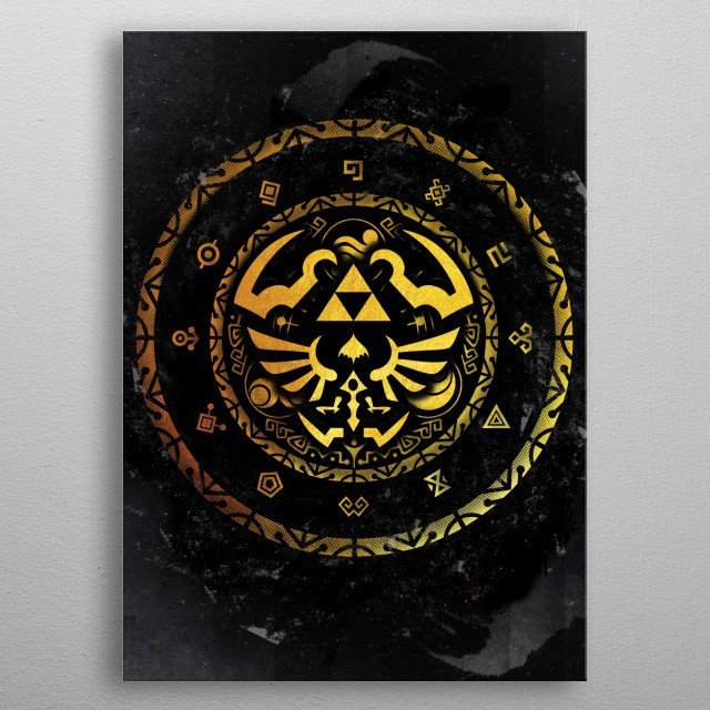 Fascinating metal poster designed by Fanfreak . Displate has a unique signature and hologram on the back to add authenticity to each design. metal poster