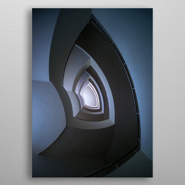 High-quality metal print from amazing Stairs collection will bring unique style to your space and will show off your personality. metal poster