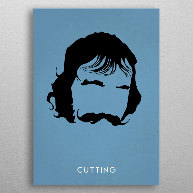 Legendary Mustaches - Bill The Butcher Cutting from the movie Gangs of New York. metal poster
