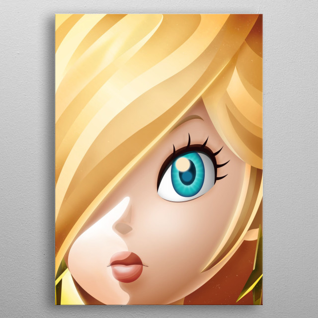 The beautiful Rosalina! FaceGame. Illustration with highlights and shadows in Illustrator and Photoshop. Mario metal poster