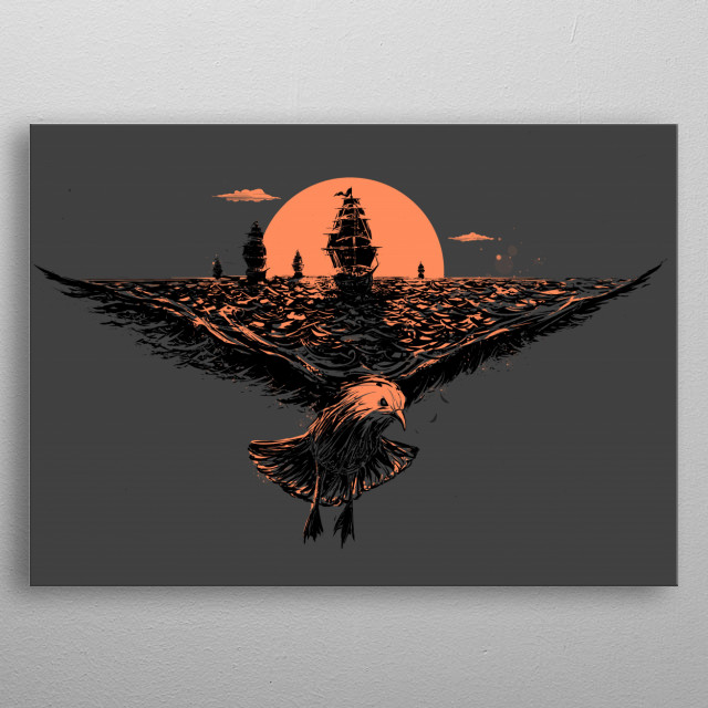 the great voyage v2 metal poster