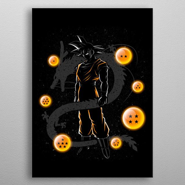 Balls of dragon metal poster