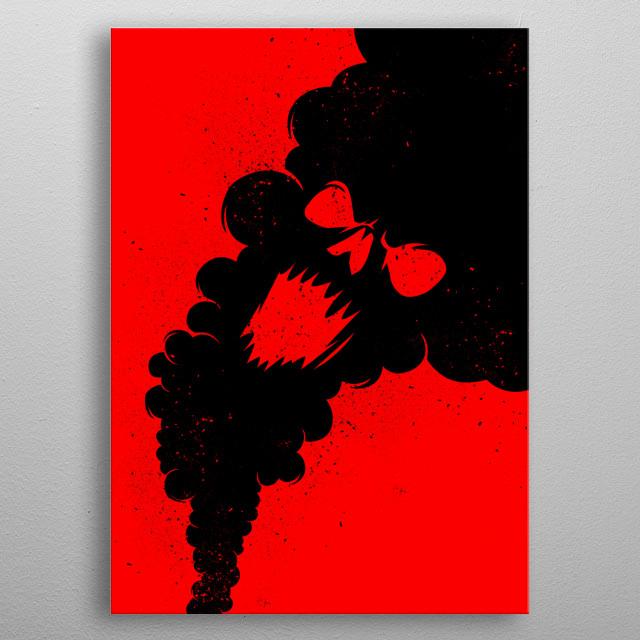 Black smoke metal poster