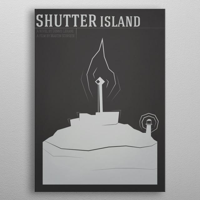 Shutter Island 'God's latest gift' metal poster