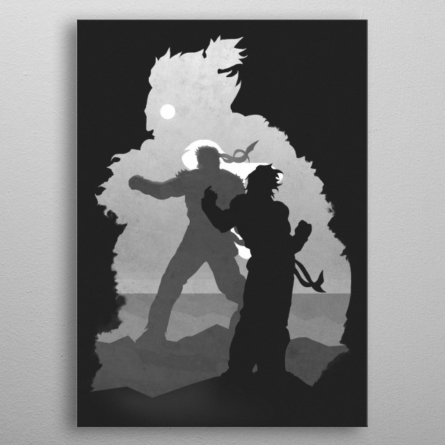 Street Fighter metal poster