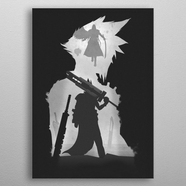 Final Fantasy metal poster