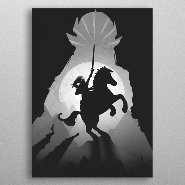 High-quality metal print from amazing Gaming Shadows collection will bring unique style to your space and will show off your personality. metal poster
