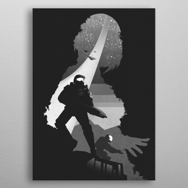 Halo metal poster