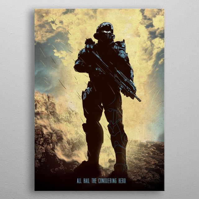 Halo - Locke metal poster