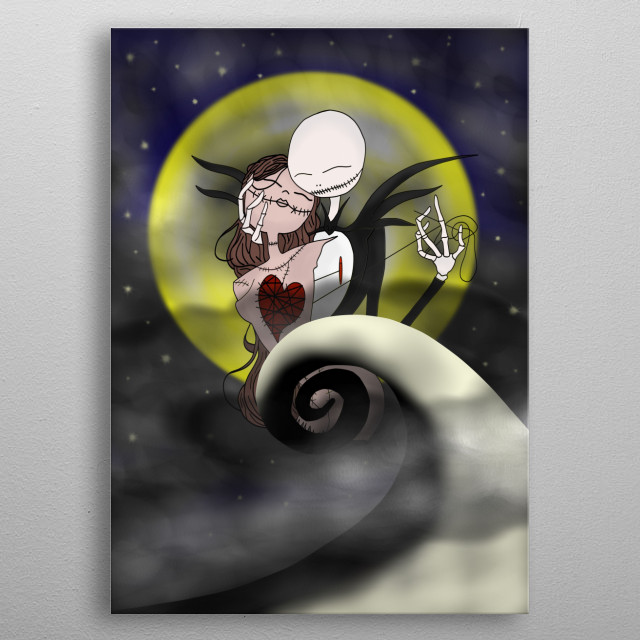 nightmare before Christmas Hallowenstmas design metal poster