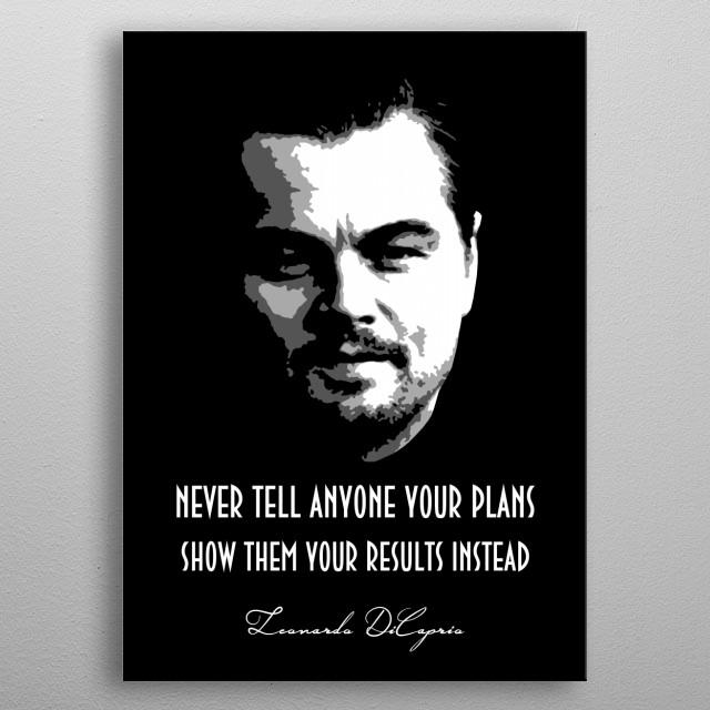 Leonardo DiCaprio v1.0 metal poster