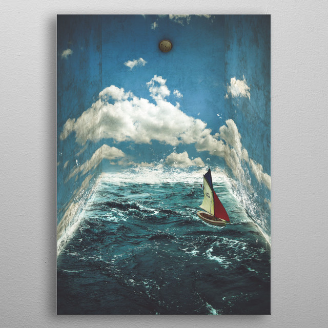 The Earth Room metal poster