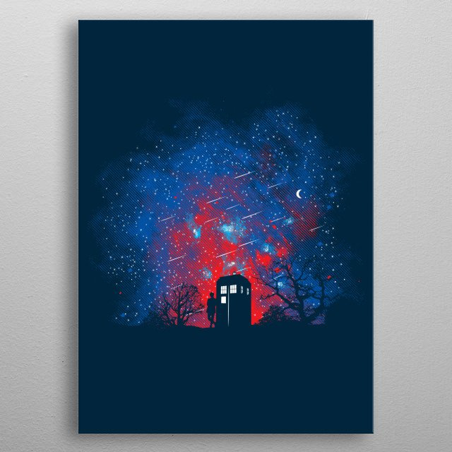 """Inspired by the TV series of """"Doctor Who."""" I hope you like it! :) metal poster"""