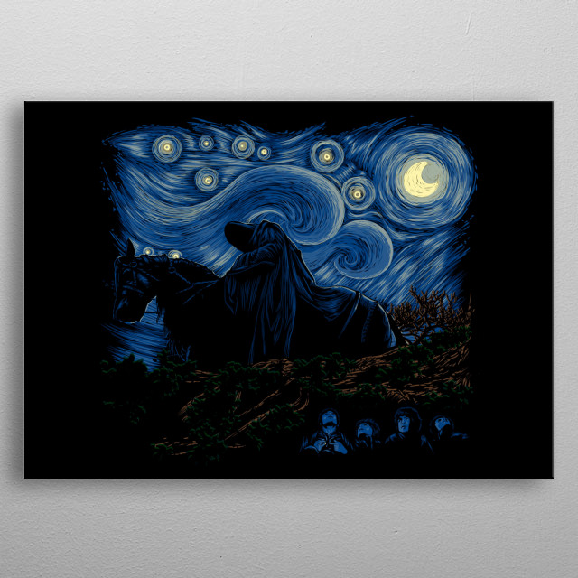 Nightfall in Middle-earth metal poster