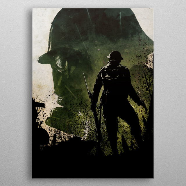 Soldier metal poster