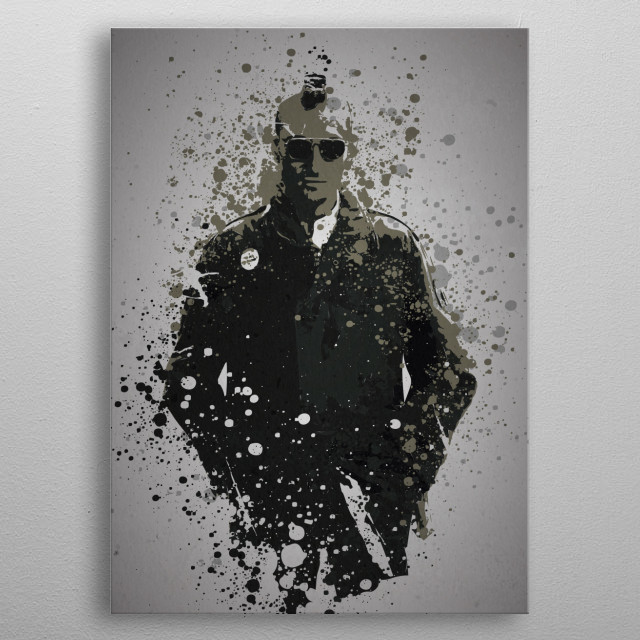 """Travis"" Splatter effect artwork inspired by Travis Bickle from Taxi Driver metal poster"
