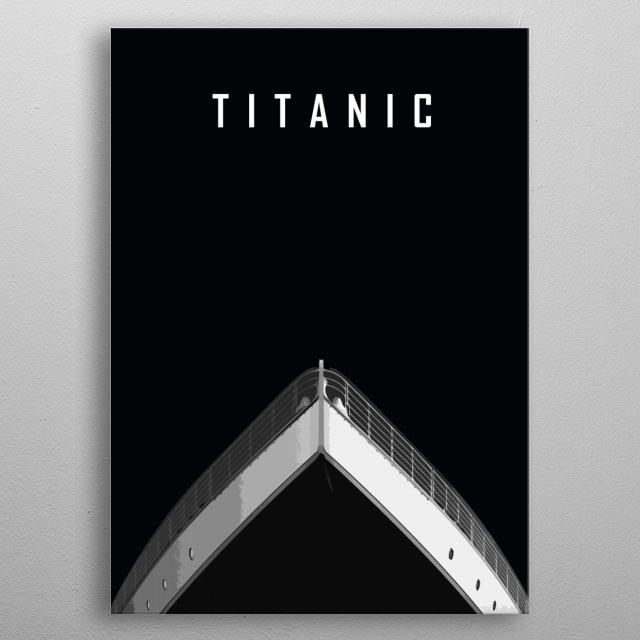 Titanic minimalist - dark version metal poster