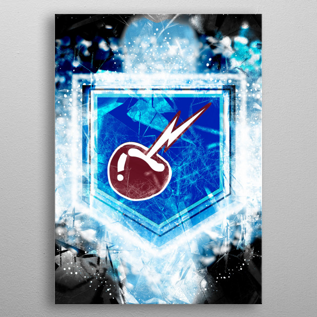 Electric Cherry metal poster