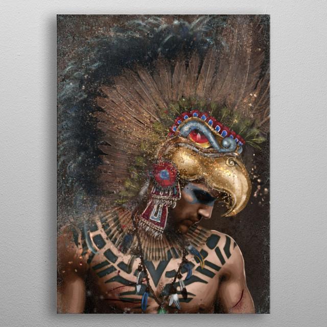 Aztec Eagle Warrior metal poster
