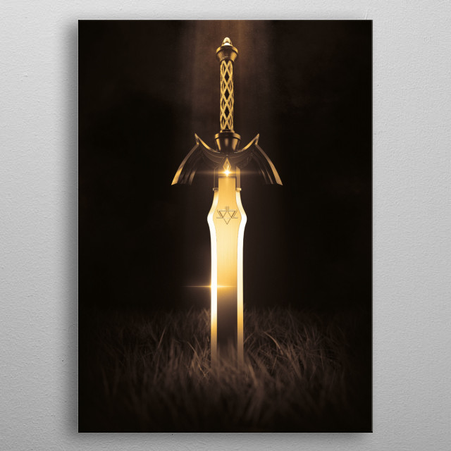 3D Master Sword · Gold Edition metal poster
