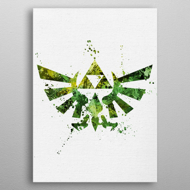 Legend of Zelda metal poster