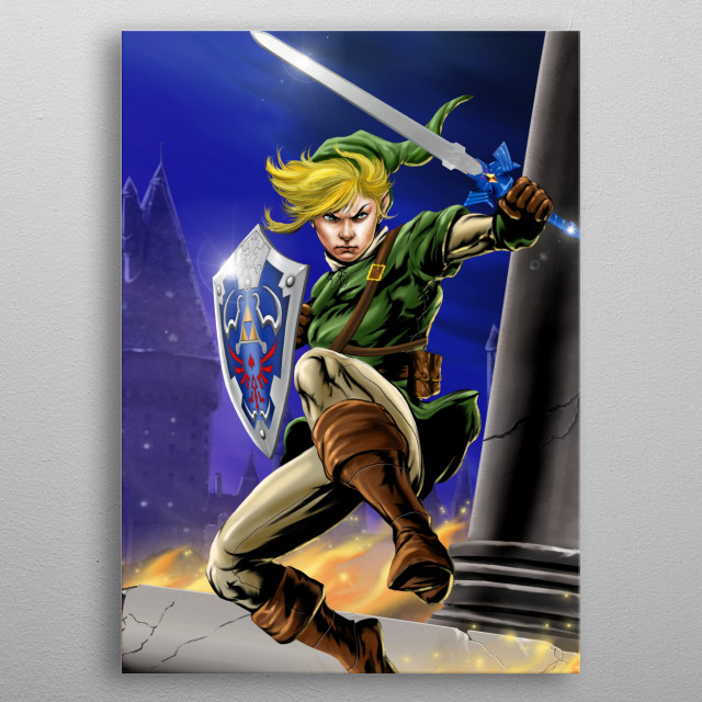 LINK metal poster
